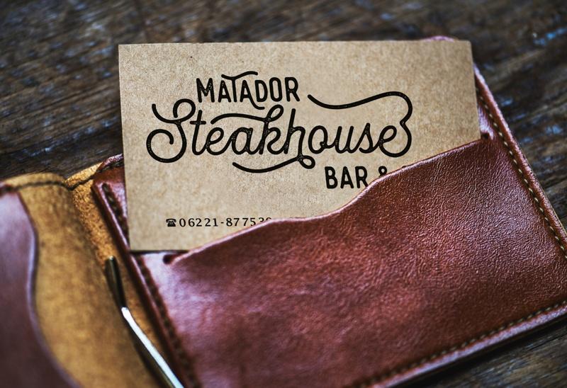 Logodesign für Steakhouse Matador