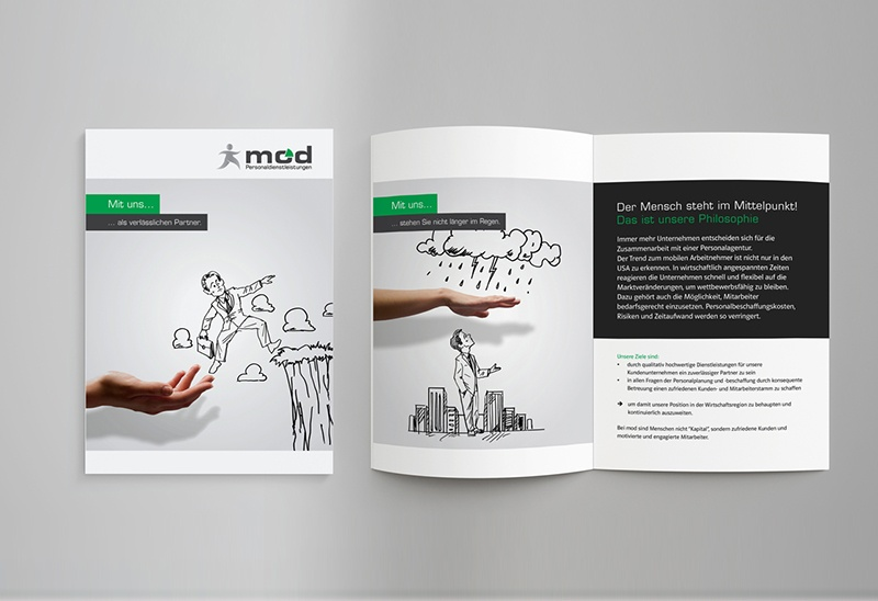 Broschüre für mod Personaldienstleistungen