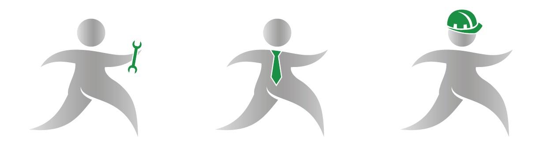 Logoelemente für mod Personaldienstleistungen