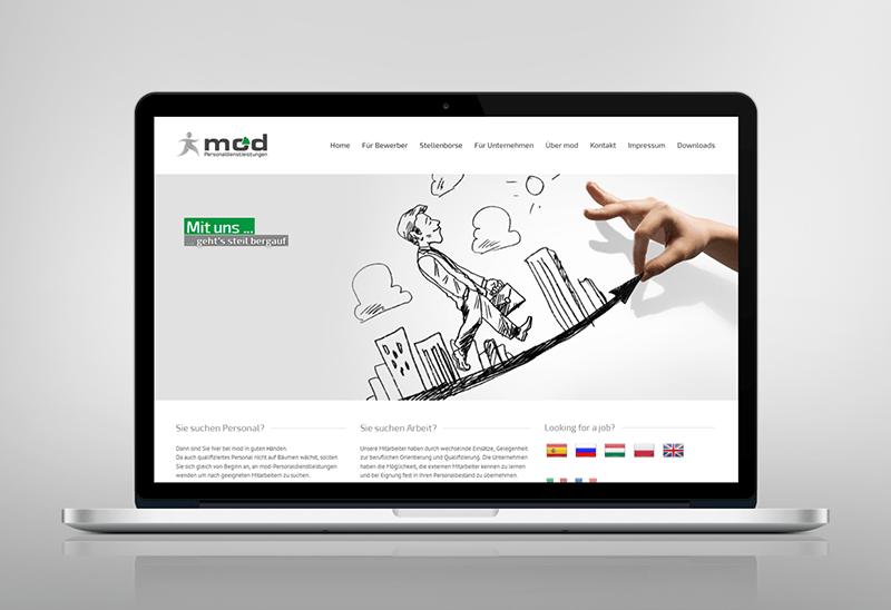 Webdesign für mod Personaldienstleistungen