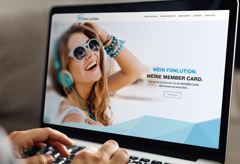 Response Webseiten-Design für Fonlution inkl. Webshop