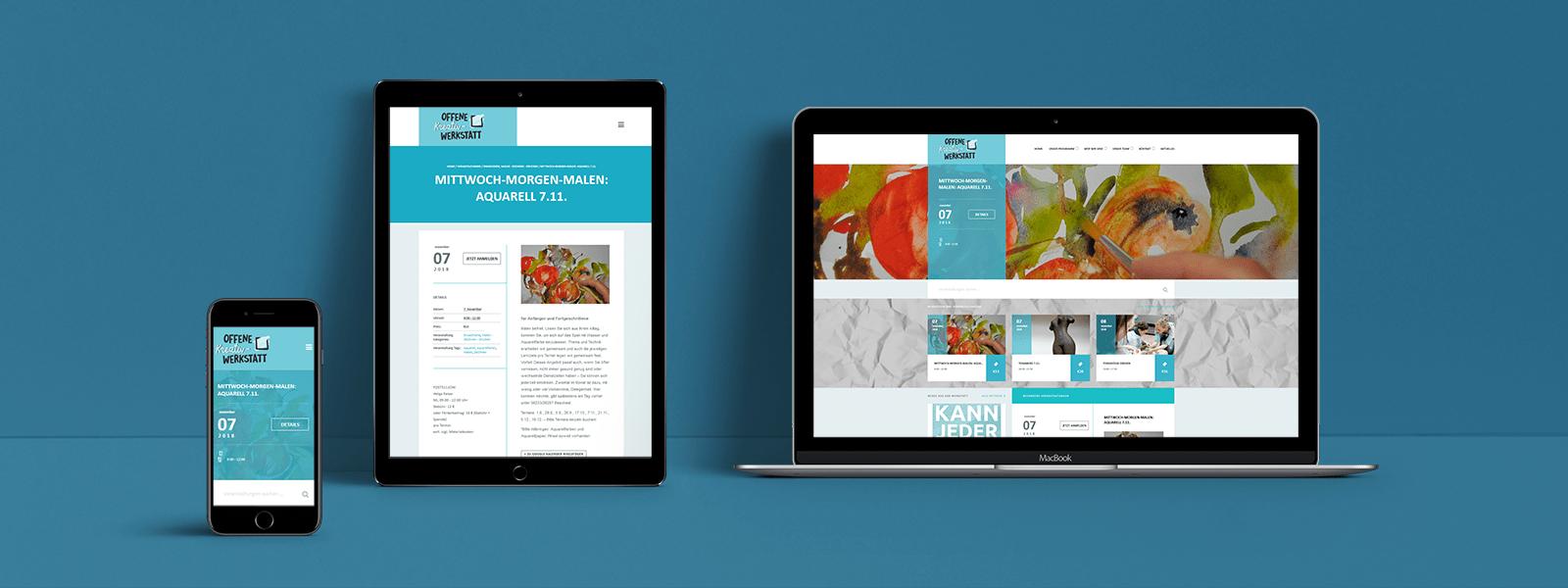 Gestaltung der Webseite für die Offene Kreativ-Werkstatt in Bad Dürkheim