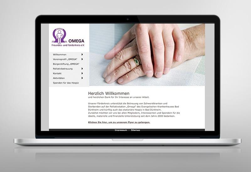 Webseiten-Design für Omega Freundes- & Förderkreis e.V. in Bad Dürkheim
