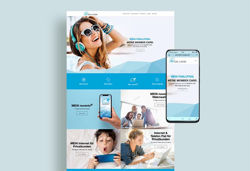 Response Webseiten-Design für Fonlution
